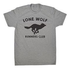 Gone For a Run Men's Lifestyle Runner's Tee Run Club Lone Wolf Adult Large Dark Heather Gray. 60% combed cotton/40% polyester jersey. 4.3-oz. 32 singles for extreme softness. Slightly heathered - 1x1 baby rib-knit set-in collar, tear away label. Official Gone For a Run Brand Product - Passionate about sports and the products we make.