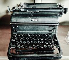 Vintage typewriter.  Black and white photography