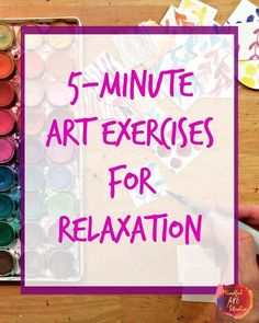 Creative Self-Care is using art to de-stress and self-express - here's some quick exercises to get you started and keep you going on busy days! These activities can be used to encourage mindfulness. Art Therapy Projects, Art Therapy Activities, Play Therapy, Therapy Ideas, Art Therapy Children, Teen Art Projects, Self Care Activities, Expressive Art, Art Classroom