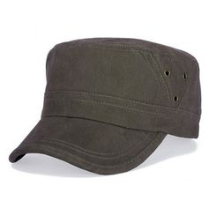 SHARE & Get it FREE | Stylish Hollow Hole Embellished Flat Top Men's Military HatFor Fashion Lovers only:80,000+ Items·FREE SHIPPING Join Dresslily: Get YOUR $50 NOW!