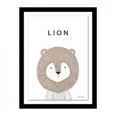 Marco con diseño de león Vector Gratis