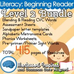 Phonetic Sounds, Blending & CVC Words | Level 2 Reading Bundle from Selma Dawani on TeachersNotebook.com (415 pages)  - Perfect for the struggling reader or the reader that is ready for formal instruction. Letter sounds, blending and reading CVC words are covered in-depth with this 415 page package.