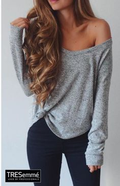 Outfit Ondas Perfectas Castaño - Waves Long Hair Style #TRESemméPerú (Off The Shoulder Top Hairstyles)