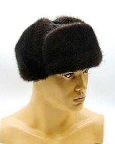 "Fur mens hat Ushanka of mink and suede ""Youth"" brown color. Winter Hats For Men, Summer Hats For Women, Brown Hair, Brown Eyes, Blue Eyes, Gentleman Hat, Trooper Hat, French Beret Hat, Mens Fur"