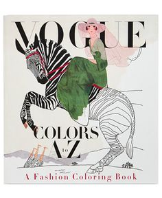 Penguin Vogue Colors A to Z Fashion Coloring Book