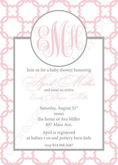 Emily Custom Lattice Baby Shower Invitation by andreagerigdesigns, $15.00
