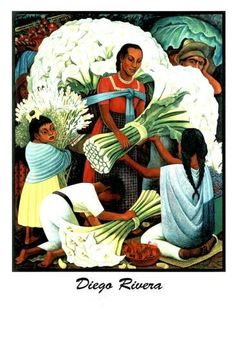 Mercado Flores by Diego Rivera Diego Rivera Frida Kahlo, Mexican Artwork, Mexico Art, Spanish Art, Oil Painting Reproductions, Famous Artists, Latino Artists, Beautiful Paintings, Beautiful Images