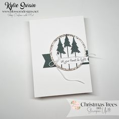 Create Christmas Cards, Stampin Up Christmas, Xmas Cards, Christmas Trees, Kylie, Shops, Make Your Own Card, Fancy Fold Cards, Winter Cards
