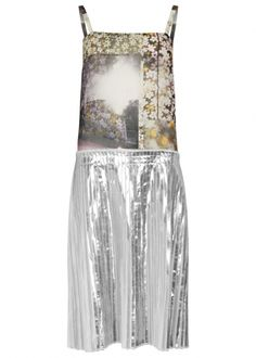 Floral and foil-print chiffon dress - Statement Dresses - Dresses - All Clothing - Women