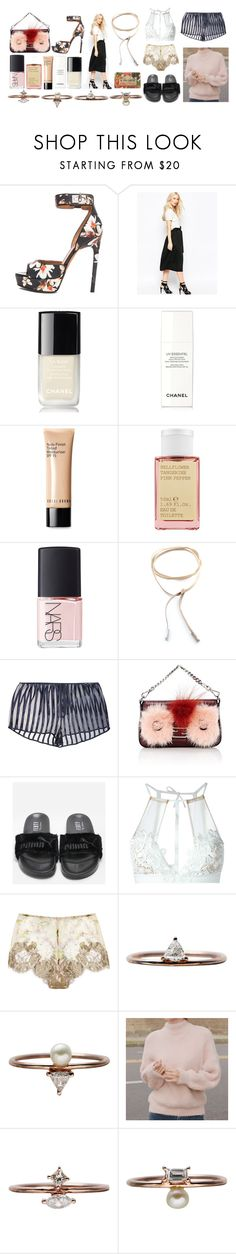 """""""Your first step is you have to say that you can."""" by mymind-is-a-warrior ❤ liked on Polyvore featuring Givenchy, Shae, Chanel, Bobbi Brown Cosmetics, Korres, NARS Cosmetics, Child Of Wild, Kiki de Montparnasse, Fendi and For Love & Lemons"""