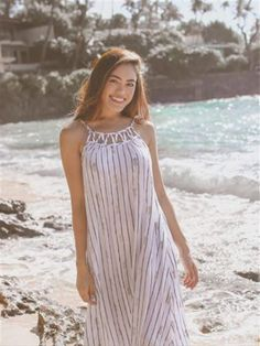 Pineapple White&Coral Rayon Leilani Maxi Dress
