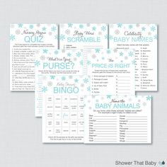 Hey, I found this really awesome Etsy listing at https://www.etsy.com/listing/206158643/winter-wonderland-baby-shower-games