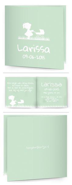 Bekijk de leukste kaartjes op onze site   http://www.kissgeboortekaartjes.nl   #baby #geboortekaartje #kissgeboortekaartjes #meisje #mint #kinderwagen