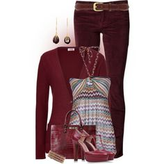 GarnetParty, created by hollyhalverson on Polyvore