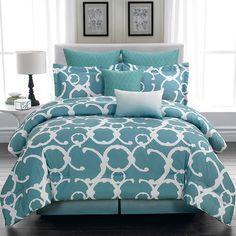 Shana Comforter Set in Dusty Blue