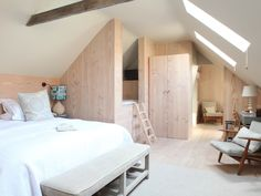 Retrouvius is an architectural salvage and design business. The George In Rye, Home Bedroom, Bedrooms, Chest Of Draws, Architectural Salvage, Double Beds, Reading Nook, Contemporary, Modern