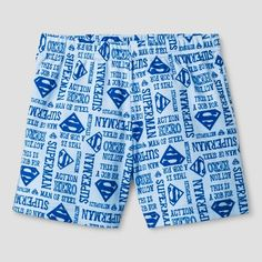 Baby Boys' 3pc Superman Shorts Set Red - Warner Bros. 12Months, Size: 12 Months, Blue