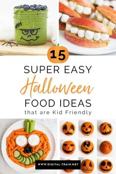 15 Super Easy Halloween Food Ideas that are Kid Friendly – Digital Train Healthy Halloween Snacks, Easy Halloween Food, Halloween Ideas, Happy Halloween, Amazing Food Decoration, Mummy Hot Dogs, Picky Toddler Meals, Cheesy Breadsticks, Halloween Eyeballs