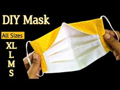 Diy Sewing Projects, Sewing Tutorials, Sewing Hacks, Sewing Patterns, Crochet Patterns, Easy Face Masks, Diy Face Mask, Homemade Mask, Diy Mask