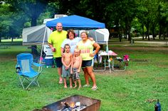 Family Area RV Full Hook Up Campsites.