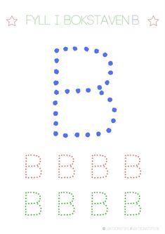 Lär dig skriva hela alfabetet med dessa färgglada bokstäver i färgerna röd, grön och blå – Lektionstips Kindergarten Writing Activities, Literacy, Cool Kids, Alphabet, Teaching, Education, Toddlers, Inspiration, Preschool