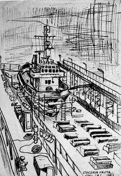 Gdansk-Poland ,dry dock,tugboat exposed
