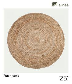 alinea :  rush text tapis rond en jute - d90cm   décoration maison et objets décoration tapis   - #Alinea #Décoration #Tapis - inspiration meubles et déco