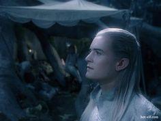 Legolas listens to the lament for Gandalf