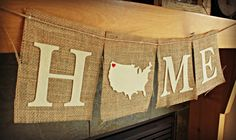 Home with country as letter