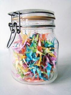 Crane filled jar