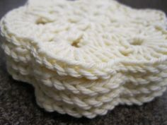 READY TO SHIP Crochet Coaster  African Flower by afewlittlebumps, $9.00