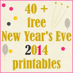 40 + free New Year' Eve 2014 printables - Silvester Druckvorlagen - freebie | MeinLilaPark – digital freebies