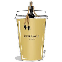 « Only Donatella @donatella_versace can brew the perfect espresso this morning! In a gold VERSACE cup of course. »