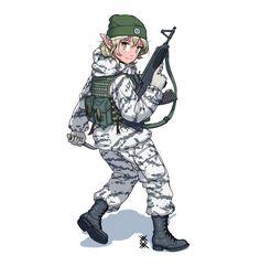 Anime Military, Military Girl, Fantasy Comics, Anime Fantasy, Military Archives, Manga Anime, Anime Art, Anime Uniform, Character Art