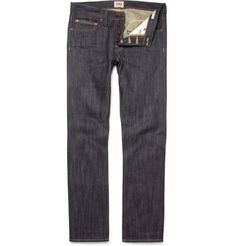 EdwinED-47 Straight-Leg Rainbow Selvedge Jeans. Was 230 now $115. 50% Sale at Mrporter.com  The name 'ED-47' denotes that these jeans come in a straight, regular fit. They have been crafted from brand's signature heavy-duty 'Rainbow' selvedge that they exclusively developed in 1963, and which consists of three colours as opposed to the singular Red version.