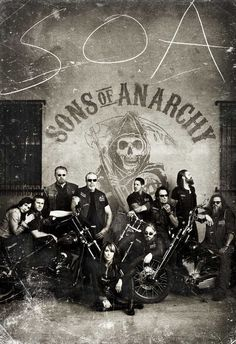 I am completely, totally in love with Sons of Anarchy. This new S4 poster is amazing, love the 1880's throwback.
