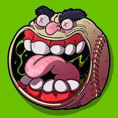 Custom Agar.io Skin Baseball Smile
