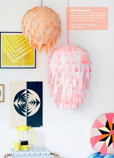 DIY: Creative Paper Lamps http://decor8blog.com/2013/06/11/diy-creative-paper-lamps/ via boligliv