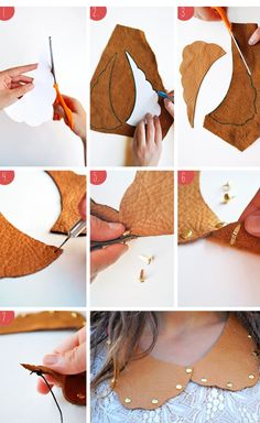 DIY Fashion: 15 Amazing Necklace| loving all these faux collar ideas!