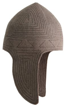 Kep Takyia - Kyrgyz national headdress. Suits actually everybody and looks quite contemporary and stylish. Quilted light brown felt hat. Composition: 100% wool and threads. Handmade by artisans of Tumar Art Group.