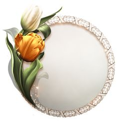 Bring me Tulips Cake Logo Design, Silhouette Curio, Floral Printables, Frame Background, Borders And Frames, Floral Border, Border Design, Flower Frame, Exotic Flowers