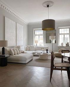 Home Living Room, Living Room Designs, Living Room Decor, Interior Design For Living Room, Apartment Interior Design, Living Room Lighting, Dream Home Design, House Design, Elegant Living Room