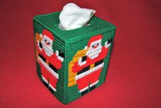 Christmas Tissue Box Cover Boutique Size by JansCraftShop on Etsy, $20.00