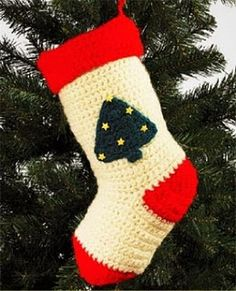 crochet christmas stocking. Handmade Christmas Stockings. http://www.hobbycraft.co.uk/christmas #christmas #stocking #handmadechristmas