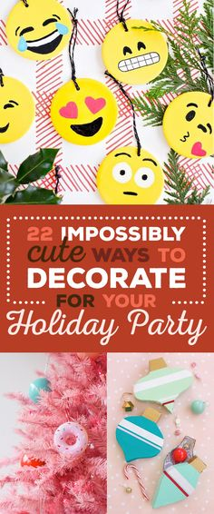 22 Insanely Adorable DIY Decorations For Holiday Parties Stuff Christmas Love, Christmas Holidays, Christmas Crafts, Christmas Ideas, Christmas Countdown, Christmas 2019, Happy Holidays, Merry Christmas, Holiday Parties