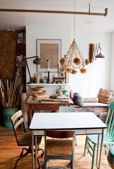 I'd love to have studio space to have a table in the middle of the room not pushed to one side!