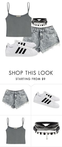 """Untitled #14"" by evelinefeitosaneres on Polyvore featuring adidas"