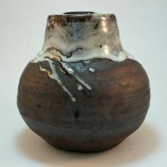 Ian McKay. Metallic-glazed vase