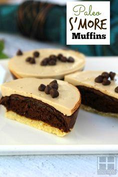 S'MORE MUFFINS #food #paleo #grainfree #glutenfree #dairyfree #dessert #snacks #s'more #chocolate