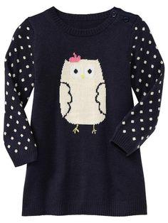Gap   Intarsia owl sweater dress · Baby Gap· Autumn line· Emmalee needs it·♡